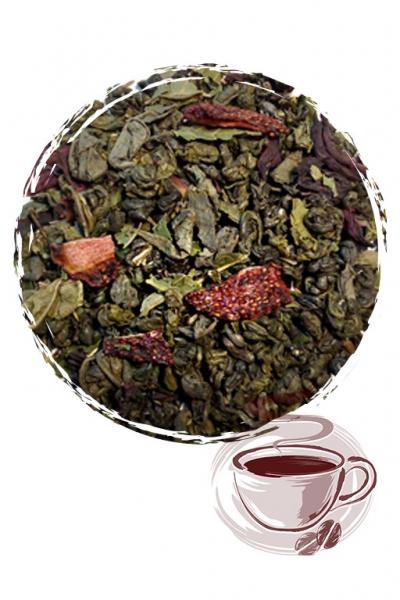 """Зеленый чай """"Земляника со сливками"""""""